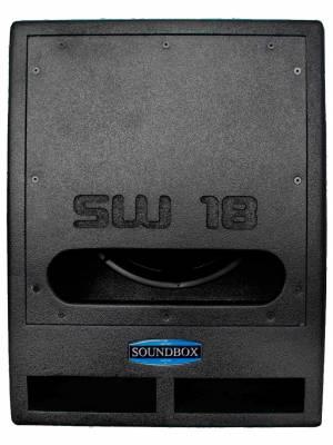 "Caixa Subwoofer Passiva 18"" 1000W RMS Soundbox SW18 Preta"
